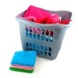 Folding the laundry Royalty Free Stock Photography