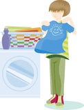 Folding Laundry Stock Images