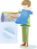 Folding Laundry vector illustration
