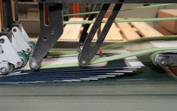 Folding machine detail Royalty Free Stock Photos