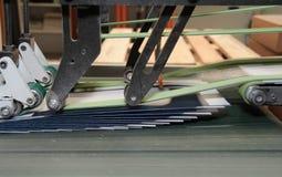 Folding machine detail Royalty Free Stock Photos