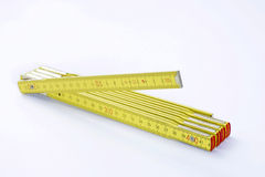Folding measuring stick Stock Photo
