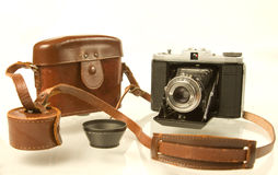 Folding Medium Format Camera with Case Stock Images