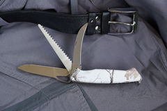 Folding multipurpose knife Royalty Free Stock Photography