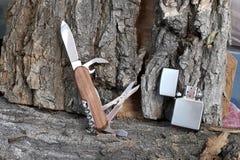 Folding multipurpose knife Royalty Free Stock Image
