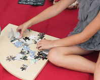 Folding puzzles Royalty Free Stock Images