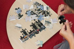 Folding puzzles Stock Images