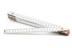 Folding rule with centimeter scale Stock Photo