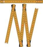 Folding rule orange stock image
