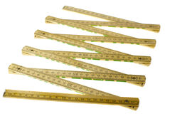 Folding ruler isolated royalty free stock photography