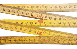 Folding ruler on white background Stock Photography