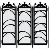 Folding screen isolated on white Stock Image