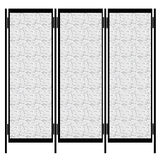Folding screen isolated on white Stock Images