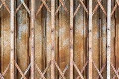 Folding shutter steel door Royalty Free Stock Photos