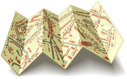 Folding street map Stock Images