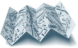 Folding street map Stock Photo