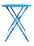 Folding Table Blue Stock Images