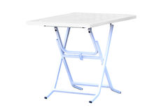 Folding table Stock Image
