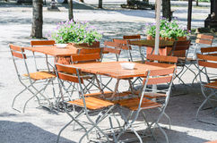 Folding tables and chairs Stock Photography