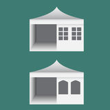 Folding tent with windows in europe style Royalty Free Stock Photography