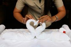 Free Folding Towels Royalty Free Stock Image - 8434076