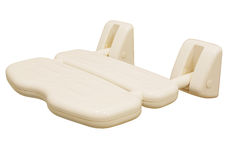 Folding Wall Mounted Shower Seat for Patient and E Stock Photo