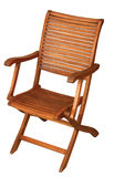 Folding wooden chair Royalty Free Stock Image