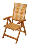 Folding wooden chair Stock Image
