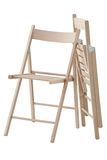Folding wooden chair Royalty Free Stock Images