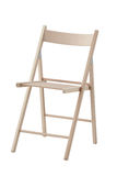 Folding wooden chair Royalty Free Stock Photos