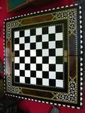 folding-wooden-chess-board Stock Photos