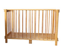Folding Wooden Cot Royalty Free Stock Photography