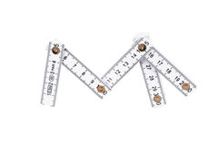 Folding wooden meter Royalty Free Stock Images