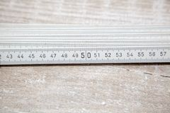 Folding yardstick Closeup Stock Photos