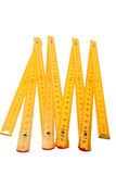 Folding Yellow Ruler Royalty Free Stock Image