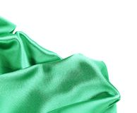 Folds of emerald satin. Royalty Free Stock Photography