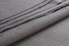 Folds of gray woolen cloth Stock Photos