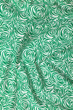 Folds of gren and white cloth Stock Photography