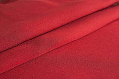 Folds of red cloth stock photography