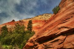 Folds of rocks of Zion Royalty Free Stock Photography