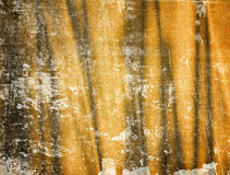 Folds on yellow canvas Royalty Free Stock Photography