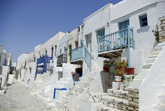Folegandros - Castel Stock Photo