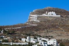 Folegandros Chora Church Royalty Free Stock Photos