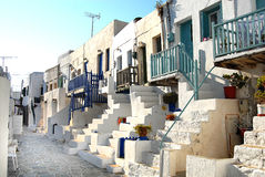Folegandros - Cyclades - Greece. The settlement of the castle built on a hill with great Cycladic architecture Stock Photos