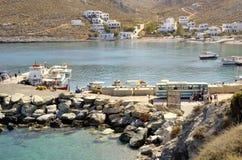 Folegandros harbor Royalty Free Stock Images