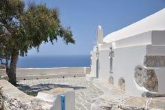 Folegandros - kyrka - Folegandros (cyclades) Royaltyfri Bild