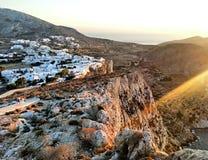 Folegandros wyspa fotografia royalty free