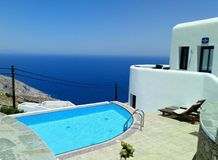 Folegandros wyspa, morze obrazy royalty free