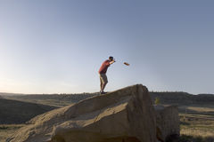 folf γκολφ frisbee Στοκ Εικόνες