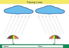 Folgen Sie den Linien mit Ihrem Bleistift Stockbilder